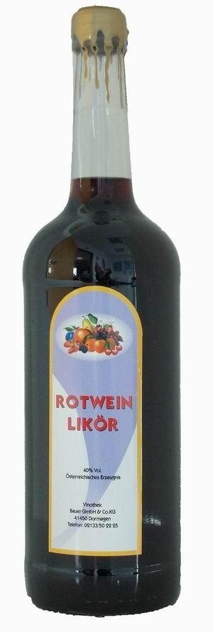 Rotweinlikör-Spezialität aus Österreich Literflasche