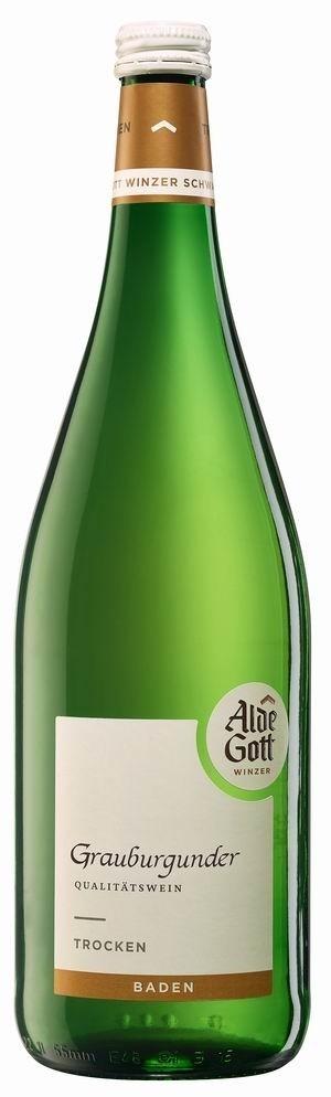 Alde Gott Grauburgunder 2017 trocken Literflasche
