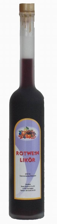 Rotweinlikör-Spezialität aus Österreich