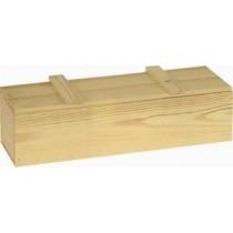 Holzpräsentkassette für 3 Flaschen mit losem Deckel