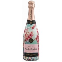 Champagner Nicolas Feuillatte Brut Rosé Sonderflasche Kirschblüten-Sleeve