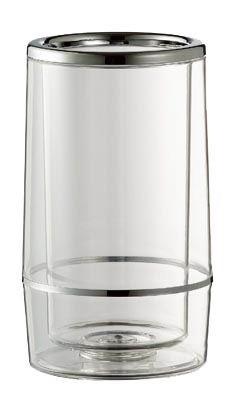 Flaschenkühler aus Acryl für 1 Flasche transparent