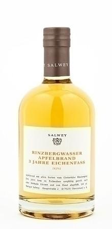 Weingut Salwey Rinzbergwasser Apfelbrand 3 Jahre gereift