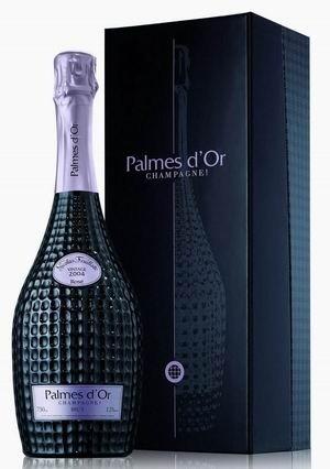 Geschenkpackung STAR für Champagner Palmes D'Or Brut Rosé Vintage Nicolas Feuillatte