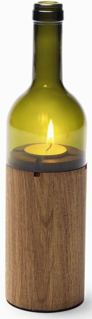 Design Wein Windlicht grün