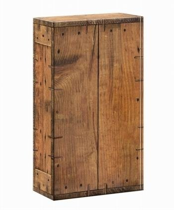 Geschenkkarton Holzoptik Rustikal für 2 Flaschen