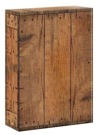 Geschenkkarton Holzoptik Rustikal für 3 Flaschen