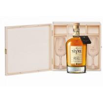 SLYRS Geschenkkassete für 1 Flasche 0,7 L mit 2 Slyrs Degustationsgläser