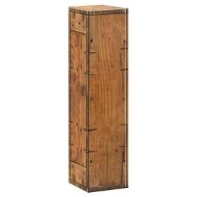Geschenkkarton Holzoptik Rustikal für 1 Flasche