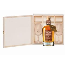 SLYRS Geschenkkassete für 1 Flasche 0,35 L mit 2 Slyrs Degustationsgläser