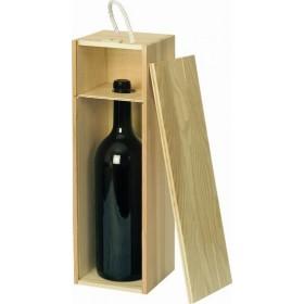 Holzkiste natur für 1,5 L Magnumflasche (Bordeaux, Sekt oder Champagner)