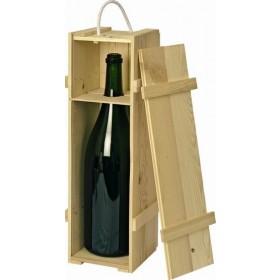 Holzkiste natur für 3,0 L Doppelmagnumflasche (Wein/Sekt)
