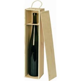 Holzkiste natur für 1,5 L Magnumflasche (Wein)